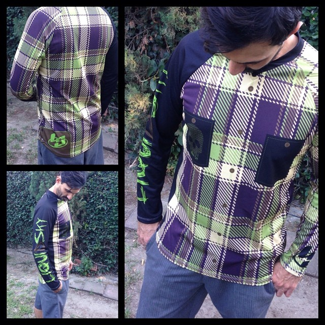 Plaid LS jersey. $75.00 plus shipping Send email to julio@liquidskysports.com with size you like #liquidskysports