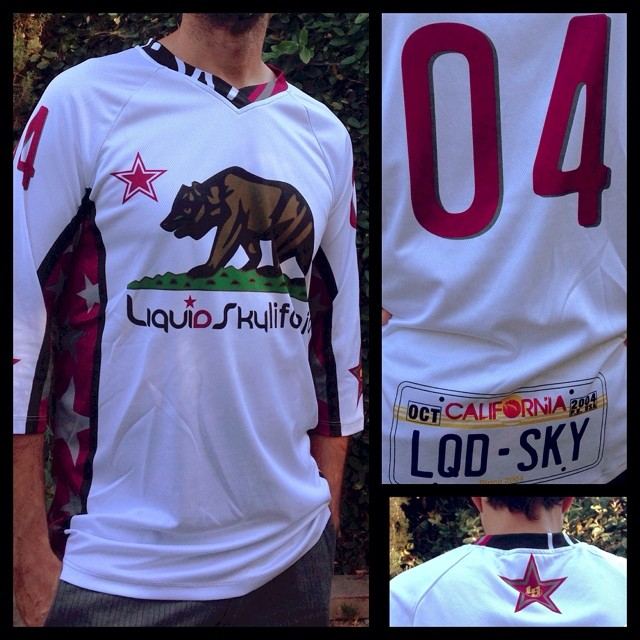 Liquidskylifornia LS jersey. $75.00 plus shipping. (Customize it with your number on back.) Send email to julio@liquidskysports.com with size and number you like #liquidskysports