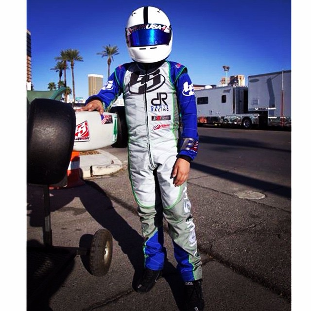 Dante Yu representing at #karting #supernats with his new custom #liquidskysports karting suit