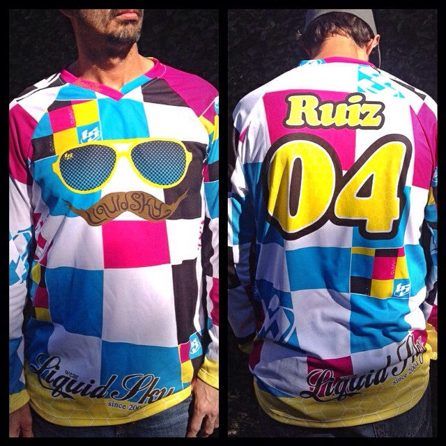 Mustache Liquidsky jersey order urs now email us to julio@liquidskysports.com with your size name and number on back. Jerseys are not recommended for high winds #liquidsky #liquidskysports #customclothing #burbank #sexy #hotpants #underlayer #skydiving #freeflysuits #InstaSize