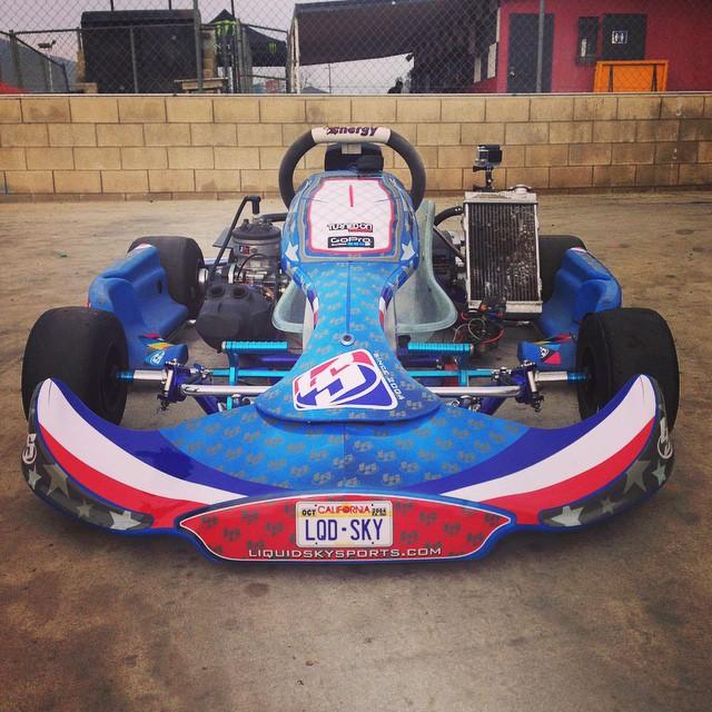 New vinyls on the kart @liquidskysports #karting