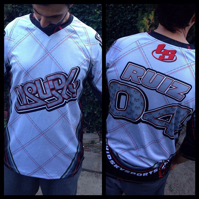 Original Liquidsky jersey order urs now email us to julio@liquidskysports.com with your size, name and number on back. Jerseys are not recommended for high winds #liquidsky #liquidskysports #customclothing #burbank #sexy #hotpants #underlayer #skydiving #freeflysuits #InstaSize